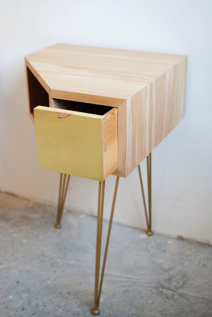 table chevets bois tilleul - ébéniste