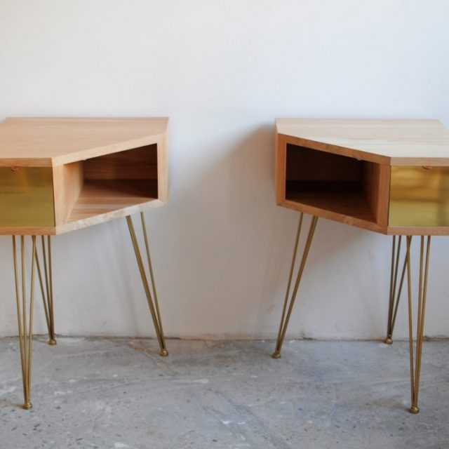 table chevets bois tilleul